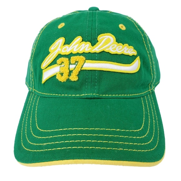 b06b41ef9fcd1 John Deere Baseball Cap Dad Hat Green   Yellow NEW